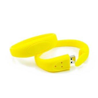 FbscTech 8GB USB Flash Drive Hidden in Silicone WristBand USB2.0 Flash Memory Yellow- Intl