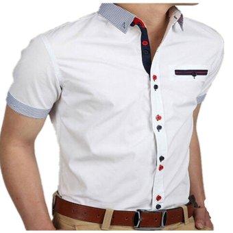 Fashion Men Long Sleeve Casual Vintage Jean Shirts (Intl)