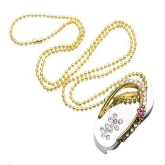 2pcs* YUNNUO 32GB USB FLash Drive Shiny Crystal Jewelry Owl USB Pen Drive (Silver) - Intl