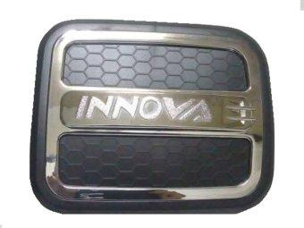 HL - Tutup Tangki/Tanki Air Bensin Tank Cover Desain Iconia Mix Hitam and Chrome Cocok Untuk Semua Jenis Toyota Inova - Hitam