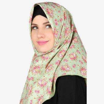 Parisku Jilbab Hijab Segiempat Katun Square Lady Green