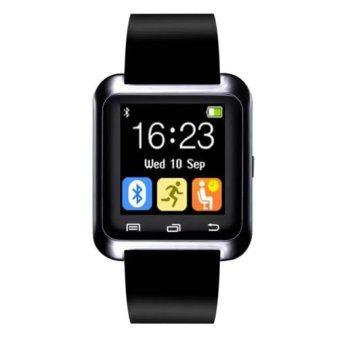 Advanced Version U Watch Sport U80 Bluetooth Wearable Technology Smart Bracelet Watch for Android IOS Samsung (Black) (Intl)