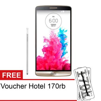 LG G3 Stylus D690 - Quad Core - 8GB - Emas + Free Voucher Hotel 170rb