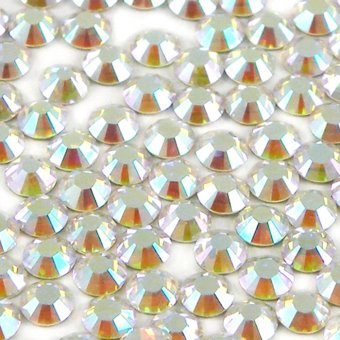 Swarovski Crystals Clear Aurore Boreale 001AB Crystal with Foiled Flat-Back SS16 x 1440pcs