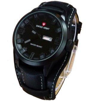harga Swiss Army Jam Tangan Pria –Leather Strap – List Abu- Abu– SA866lG Hitam Lazada.co.id