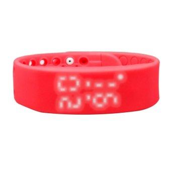 W2 USB Multifunctional 3D Pedometer Intelligent Bracelet (Red) (Intl)