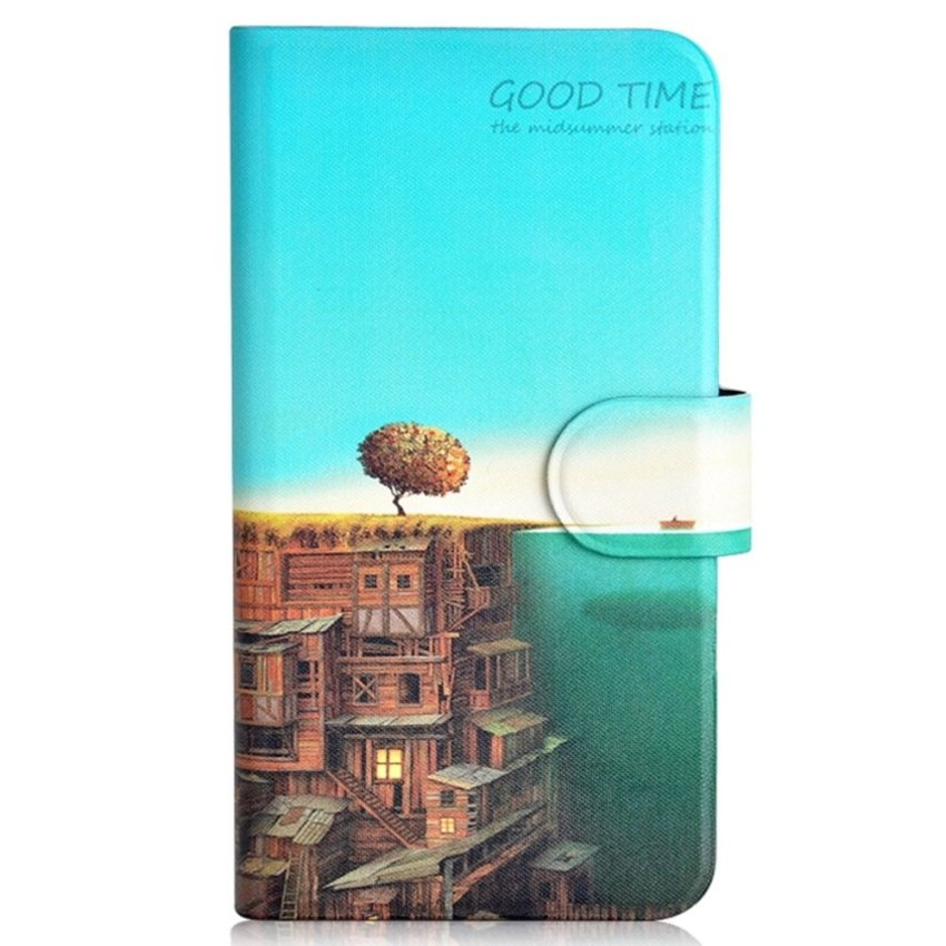 City In Sea Design Card Slot Magnetic PU Leather Flip Case Cover Compatible For Samsung GALAXY Win Pro G3812