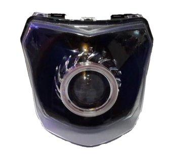 harga BullAes Lampu Depan Projector HID Xenon Double Angel Eyes New Vixion AES8 Lazada.co.id