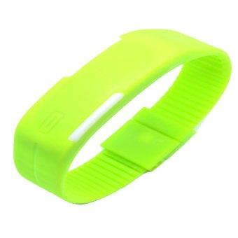 Jam Tangan LED Gelang Sport No Logo - Green