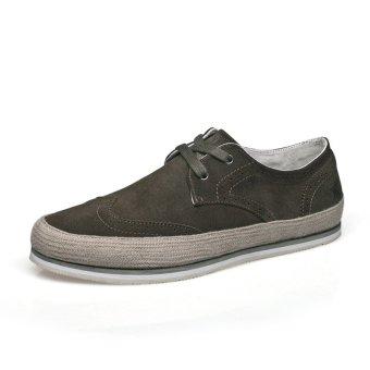 TongLuRen JPCP0083-B Sneakers New Men Fashion Canvas Casual Shoes Low Cut (Grey) - Intl