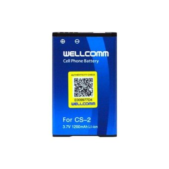 Wellcomm Baterai Blackberry CS-2 For Gemini Keppler Aries Jupiter Double IC 1200Mah - Biru terpercaya