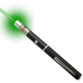 Universal Green 5 in 1 Star Beam Laser Pointer Pen 5MW - Hitam