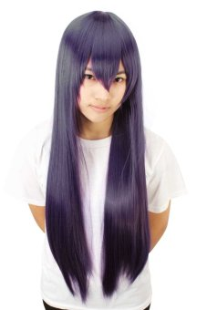 Reaty 31 Inches Cosplay Women Wigs Anime Long Straight Hair for Party Costume(Purple) (Intl)