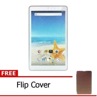 Advan Vandroid T3H - 8GB - Putih + Gratis Flipcover Coklat
