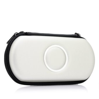 Elenxs Hard Carry Case Cover Protector for Sony PSP 2000 3000 (Silver)