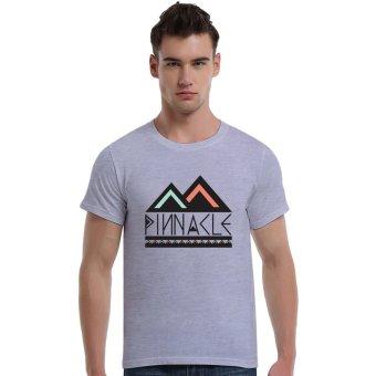 The Pinnacle Cotton Soft Men Short T-Shirt (Grey) - Intl