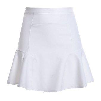2016 Female Summer High Waist Skirt Bust Skirt-White - Intl