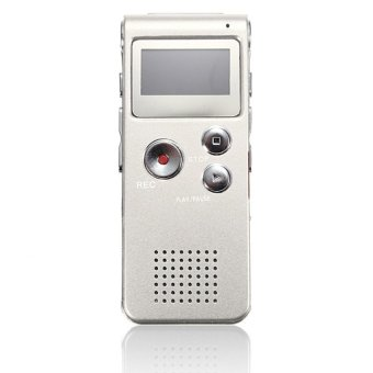 S & F Rechargeable 8GB Digital Voice Recorder Audio Dictaphone MP3 Player (Silver) - Intl
