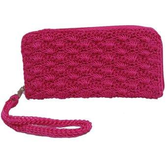 LIN'S Craft Dompet Rajut Rit Kecil - Pink