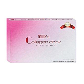 MD's Collagen Drink Glutathione Kult Putih, Cerah dan Sehat - 1 Box isi 15 sachet