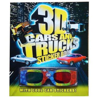 Genius Buku Anak - 3D Cars and Trucks Sticker Books with Cool Car Stickers!