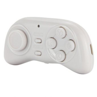 Mini Bluetooth Wireless Game Controller For IOS/Android/PC Gamepad(White) - Intl