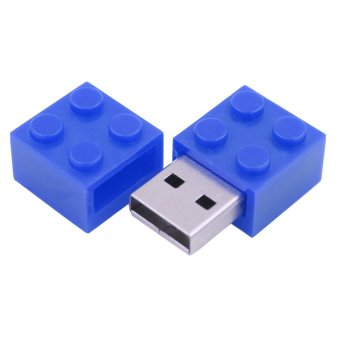 Blue USB Flash Drive 8GB Rubik Shape Pen Drive Metal USB Memory Stick Real Capacity Pendrive - Intl