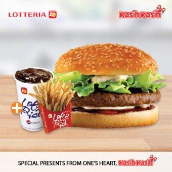 Lotteria Teriyaki Burger Set