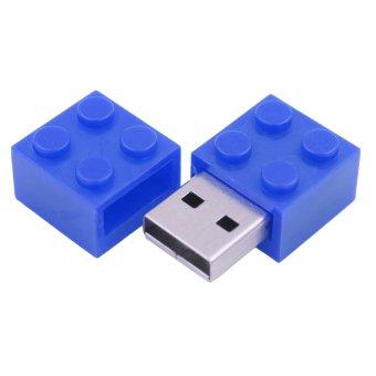 New Blue USB Flash Drive 8GB Rubik Shape Pen Drive Metal USB Memory Stick Real Capacity Pendrive - Intl