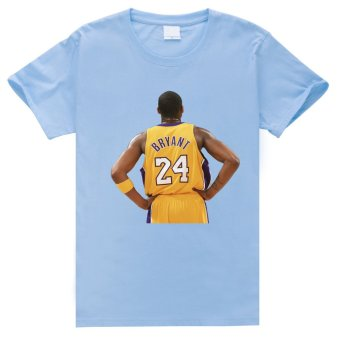 L.A.Lakers No.24-Kobe Cotton Soft Men Short Sleeve T-Shirt (Powder Blue) - Intl