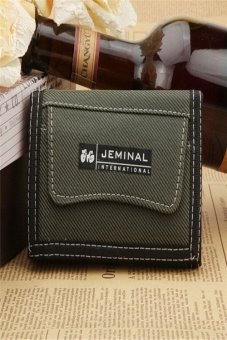 Ilife 5 Colors New Brand Short Design High Quality Small Purse Billfold Casual Sport Mini Canvas Wallet Men Cool Green