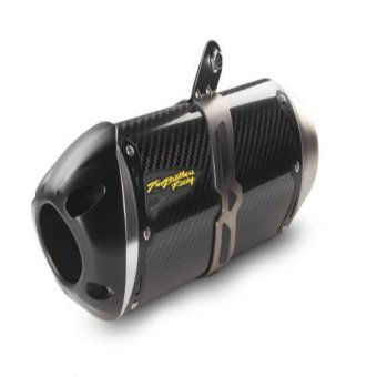 Two Brothers Kawasaki ZX6R 2009-14 S1R Slip-On System - Carbon Fiber Canister Davidson 2006-2014 Dyna Com