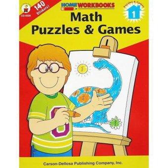 Genius Buku Anak Math, Puzzles & Games Home Workbooks with 140 stickers inside!