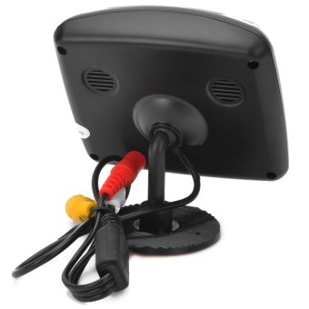 3.5 Inches Car Rearview LCD Monitor/E350 Waterproof Rearview Camera System w/ 7-LED - Black - Intl