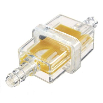 harga 6mm Square Inline Fuel Filter for Motorcycle Motorbike Moped Scooter Trials MX Yellow - Intl Lazada.co.id