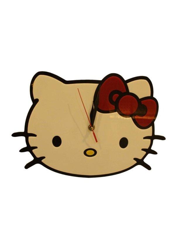 harga Personal Art Hello Kitty Clock Jam Dinding - Putih Lazada.co.id