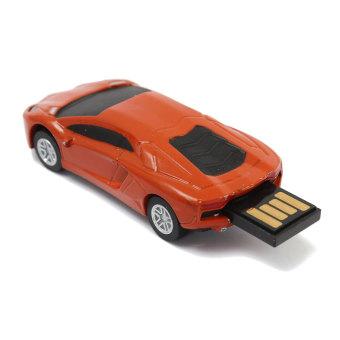 32GB Novelty Car Model U Disk USB 2.0 Flash Drive Memory Stick Storage Orange- Intl