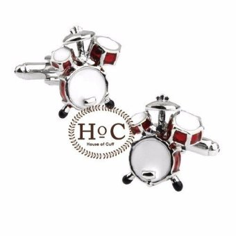 harga Houseofcuff Cufflink Cufflinks Manset Kancing Kemeja French Cuff Drum Set Red Cufflinks Lazada.co.id