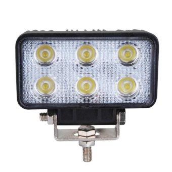 Floodlight 60 ° 18W 6 LED Work Light Lamp Bar Flood Beam Jeep Tractor Truck Bright 12v 24v CE (Intl)