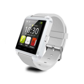 UWatch U8 Bluetooth Watch Smart Wristwatch Phone Mate For iPhone Samsung Alcatel Lenovo(White) (Intl)