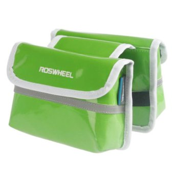 Roswheel Bicycle Bike Front Bag Mobile Phone Holder Pouch Cool (Green) (Intl)