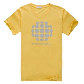 Embassy Cotton Soft Men Short Sleeve T-Shirt (Yellow) - Intl