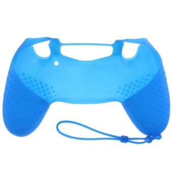 S & F Silicone Case Skin Grip Rubber Cover For Sony PlayStation 4 PS4 Controller Blue - Intl