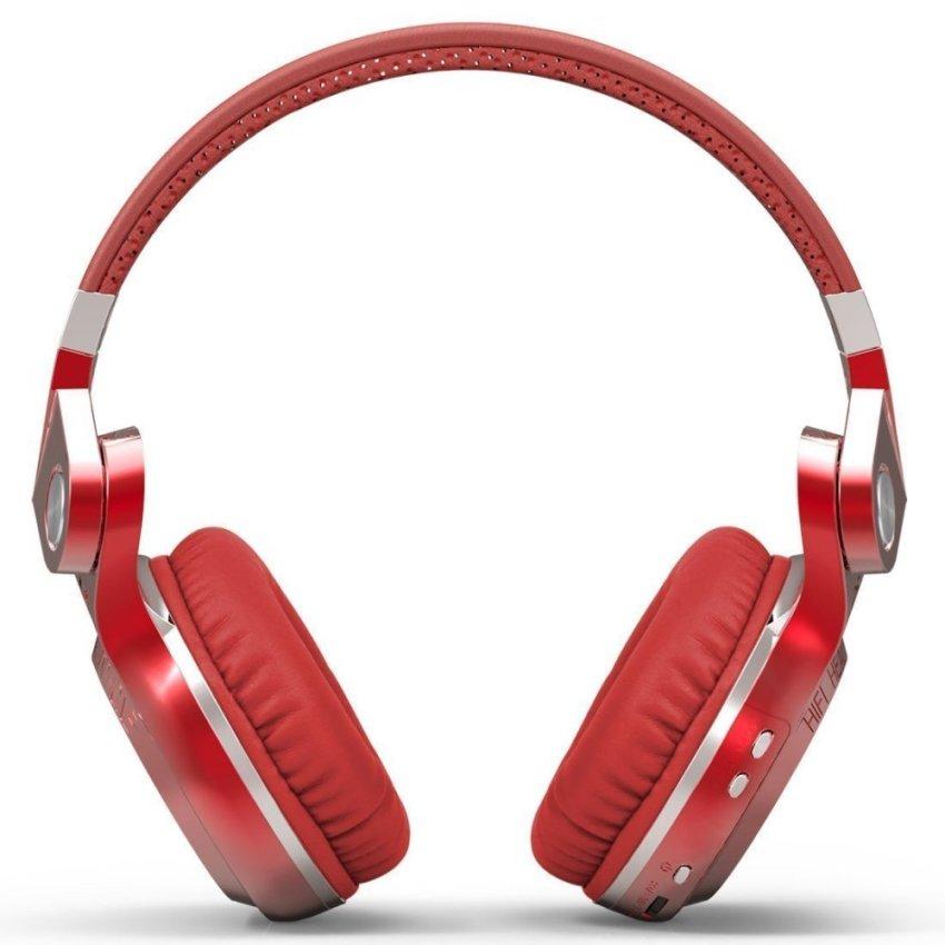 harga Bluedio Turbine T2 Wireless Bluetooth 4.1 Stereo Headphones Headset Red (Intl) Lazada.co.id