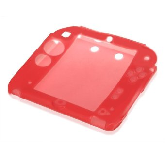 Generic Silicone Protective Cover Case Skin Rubber Bumper for Nintendo 2DS Red - Intl