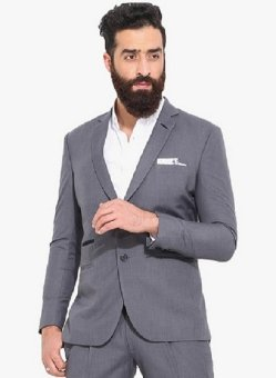 BestBlazer Yegois Formal Blazer Pria -Grey