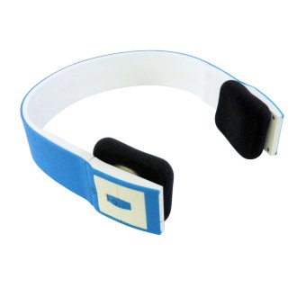 Best Mp3 Bluetooth Headset Two Channel MP3 Music Headphone - BTH-401 - Biru-Putih