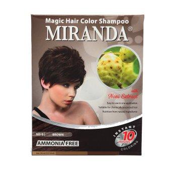 Miranda - Magic Hair Color Shampoo Brown - 30Ml