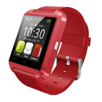 U8L Bluetooth Smartwatch for Phone Call Message Synchronous Mobile Phone Contact (Red) (Intl)