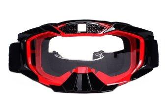 Thor Kacamata Google Bening Goggle Motorcross - Merah